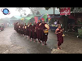Burmese Buddhist Novices Chanting